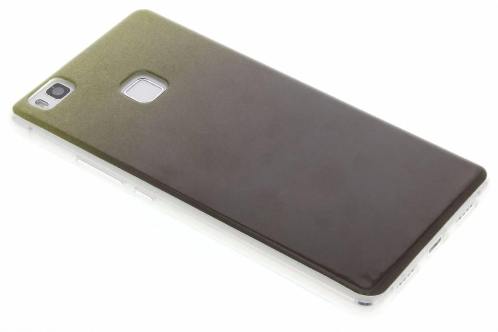 Mosgroene glitter TPU softcase voor de Huawei P9 Lite