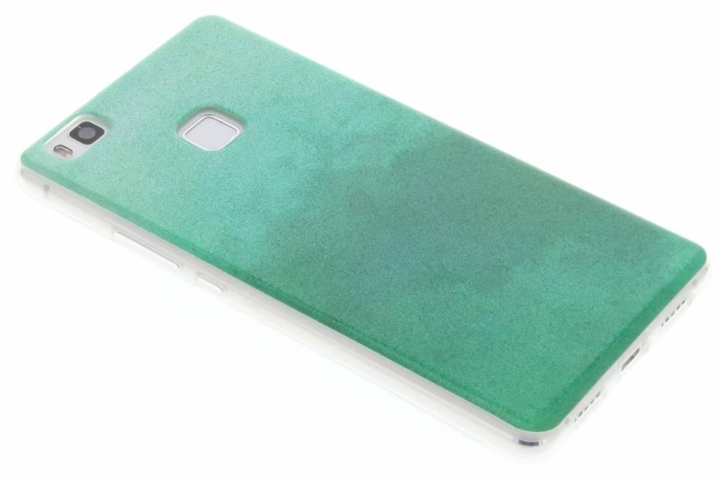 Groene glitter TPU softcase voor de Huawei P9 Lite