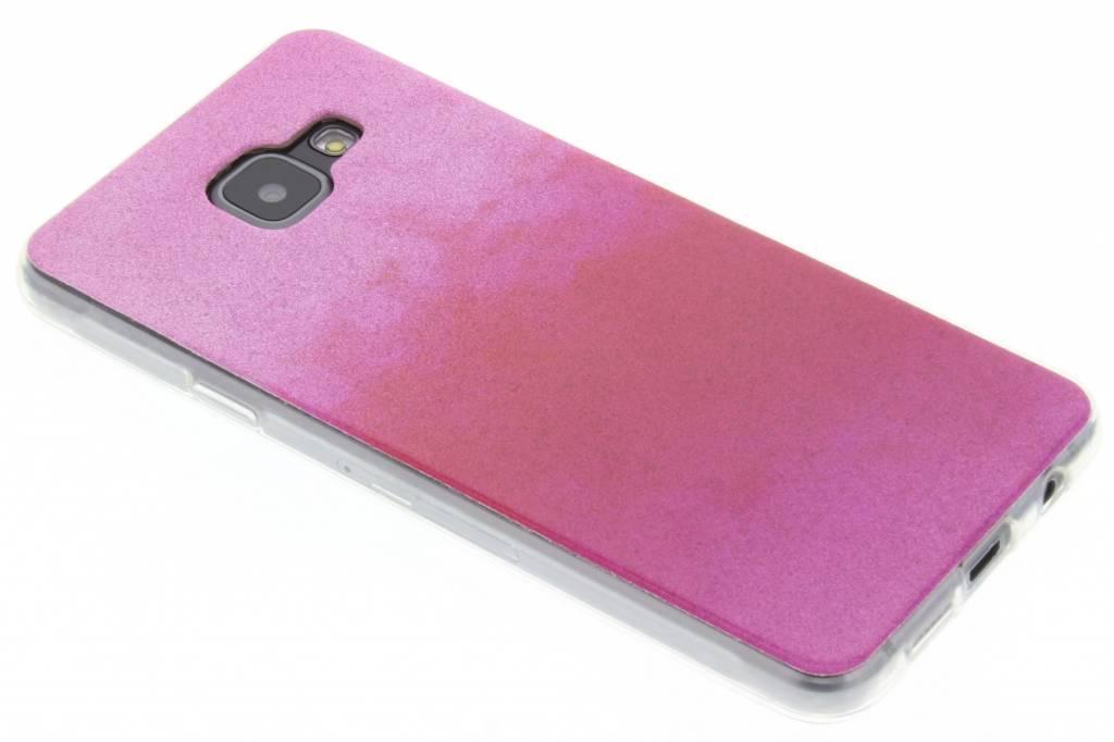 Fuchsia glitter TPU softcase voor de Samsung Galaxy A3 (2016)