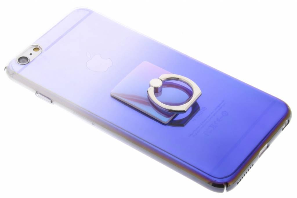 Donkerblauw tweekleurig hardcase hoesje met ring voor de iPhone 6(s) Plus