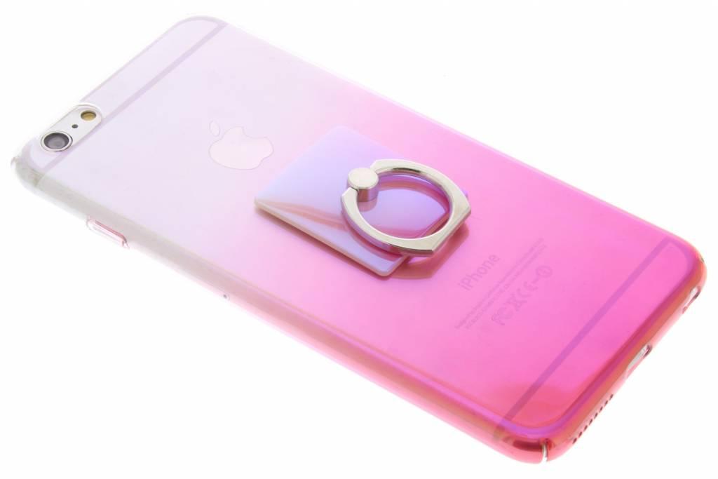 Roze tweekleurig hardcase hoesje met ring voor de iPhone 6(s) Plus