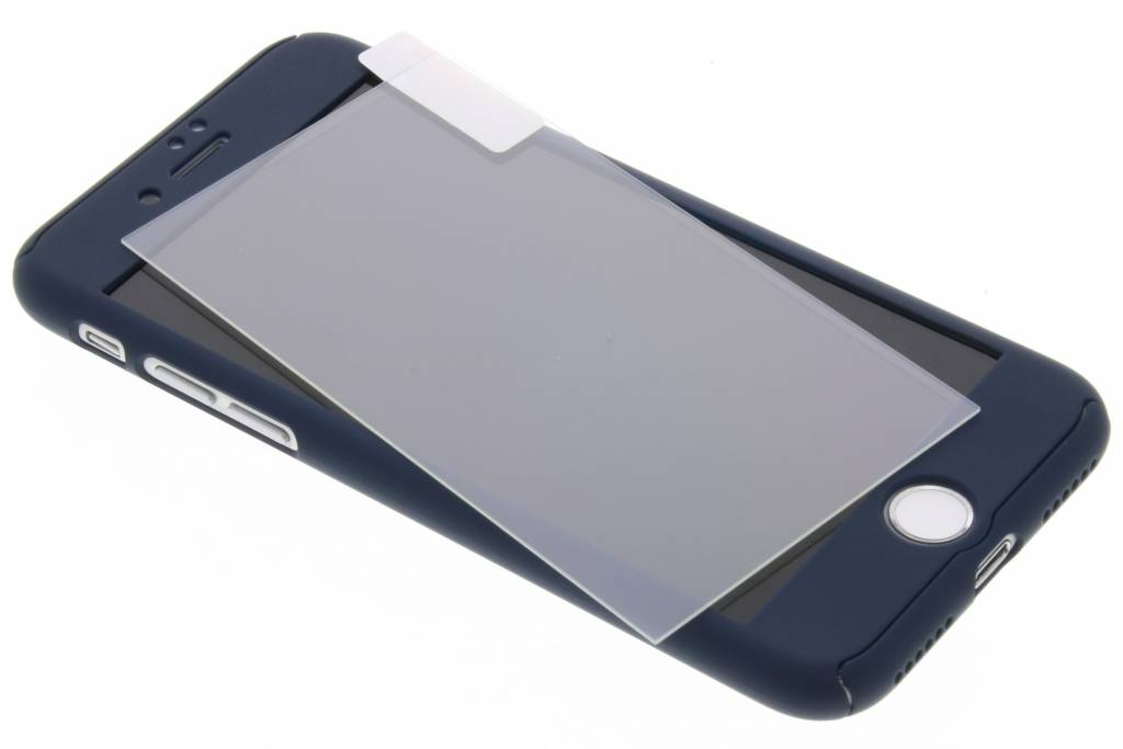 Blauwe 360°  protect case met ring voor de iPhone 8 / 7