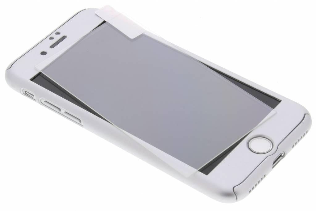 Zilveren 360°  protect case met ring voor de iPhone 8 / 7