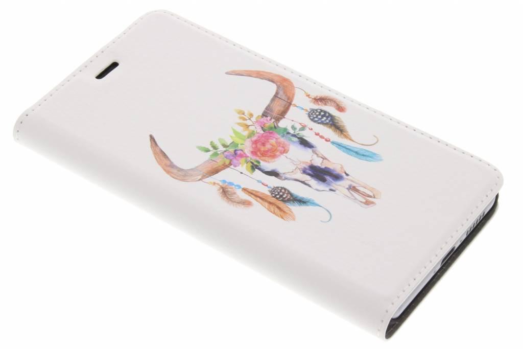 Bull Skull Design Booklet voor de Huawei Nova