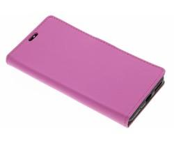 Roze zakelijke TPU booktype hoes Asus Zenfone 3 Max 5.5