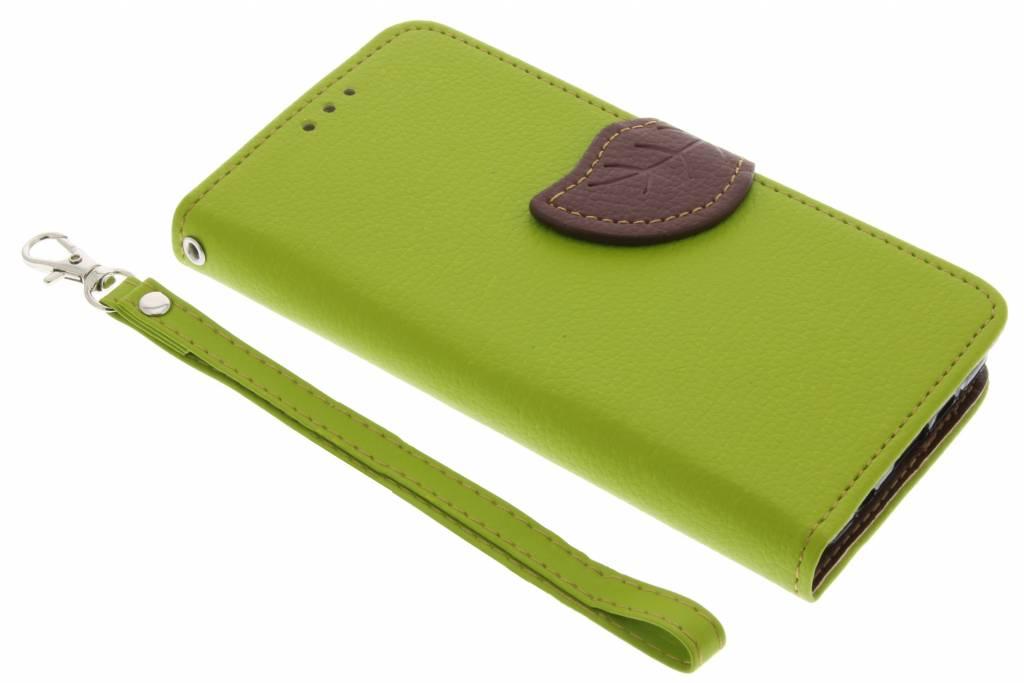 Groene blad design TPU booktype hoes voor de Samsung Galaxy A3 (2016)