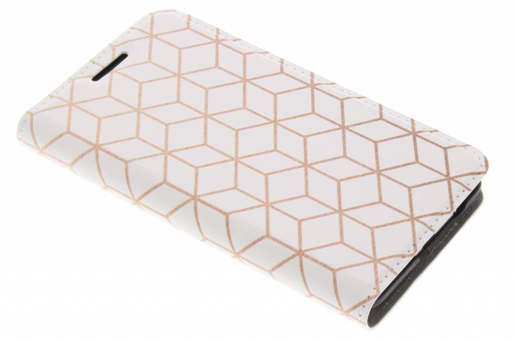 Cubes Rose Gold Design Booklet voor de Samsung Galaxy S2 (Plus)