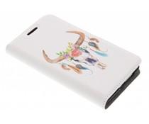 Bull Skull Design Booklet Samsung Galaxy S2 (Plus)