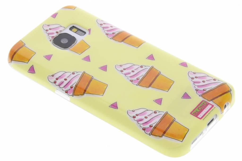 Blond Amsterdam Ijsje softcase voor de Samsung Galaxy S7