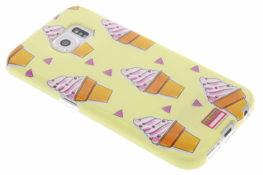 Blond Amsterdam Ijsje softcase voor de Samsung Galaxy S6