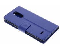 Donkerblauw zakelijke TPU booktype hoes LG K8 (2017)