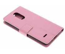 Roze zakelijke TPU booktype hoes LG K8 (2017)