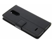 Mat zwart zakelijke TPU booktype hoes LG K8 (2017)