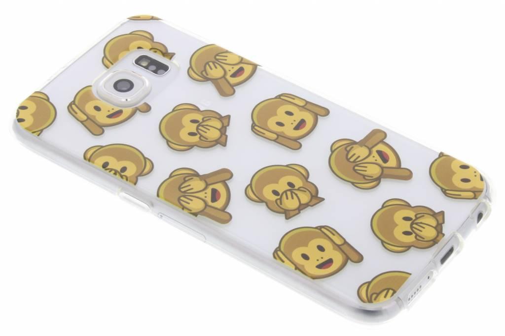 Emoticons aap design TPU hoesje voor de Samsung Galaxy S6