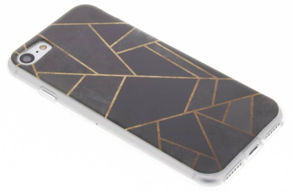 Zwart Grafisch design TPU hoesje voor de iPhone 7