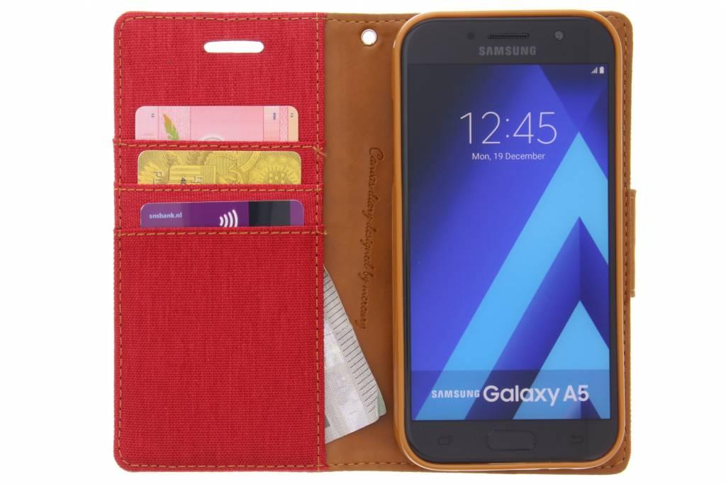 Etui En Toile De Journal Pour Samsung Galaxy A5 - Rouge TQwHZGKJFc