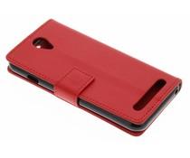 Rood zakelijke TPU booktype hoes Acer Liquid Z6