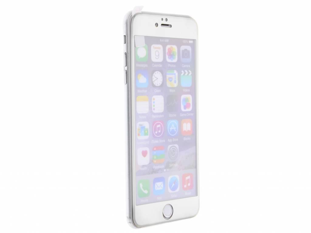 Zilveren gehard glas screenprotector voor de iPhone 6(s) Plus