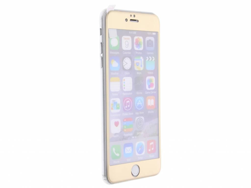 Gouden gehard glas screenprotector voor de iPhone 6(s) Plus