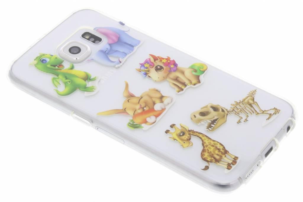Baby dieren design TPU hoesje voor de Samsung Galaxy S6