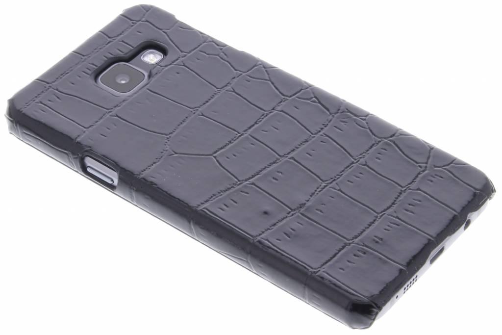 Zwart krokodil design hardcase hoesje voor de Samsung Galaxy A3 (2016)