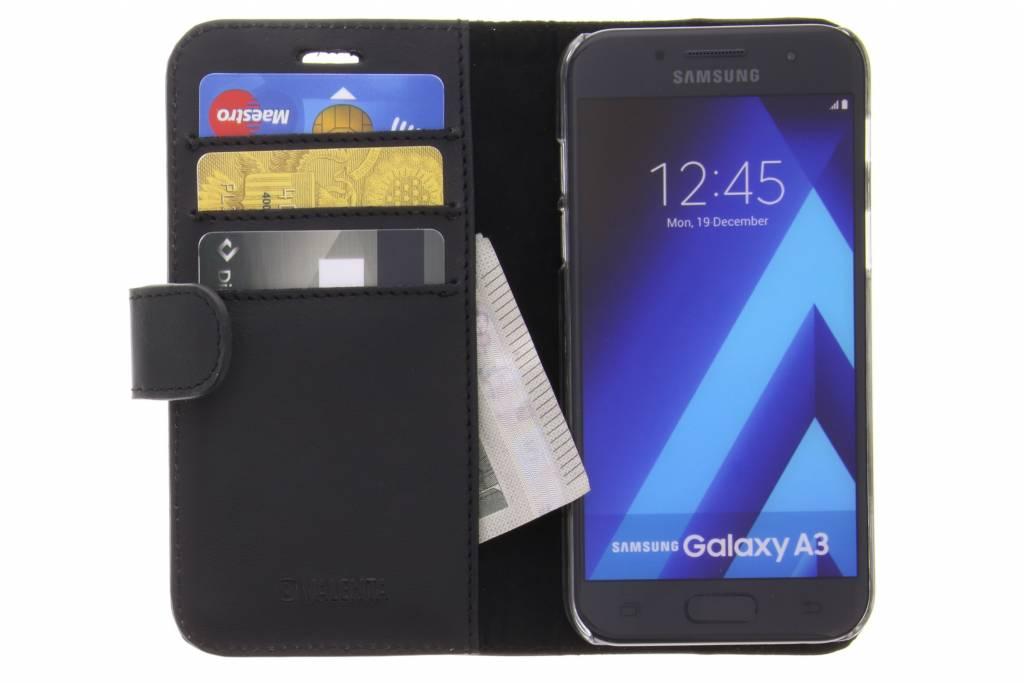Livret Noir Luxe Classique Pour Samsung Galaxy A3 (2017) EfVetdxAPk