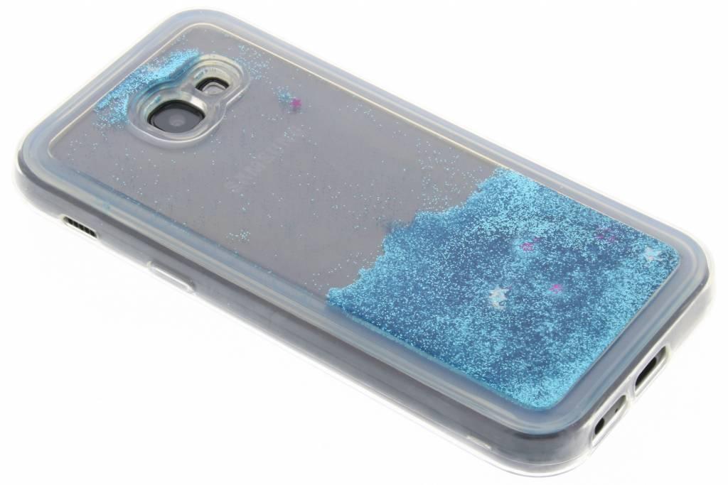 Blauwe Liquid Glitter Case voor de Samsung Galaxy A5 (2017)