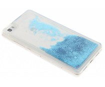 Blauw Liquid Glitter Case Huawei P8 Lite