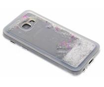 Zilver Liquid Glitter Case Samsung Galaxy A3 (2017)