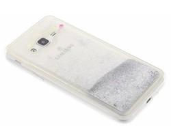 Zilver Liquid Glitter Case Samsung Galaxy J3 / J3 (2016)