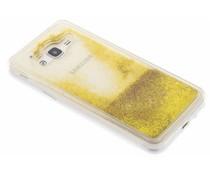 Goud Liquid Glitter Case Samsung Galaxy J3 / J3 (2016)