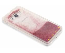 Roze Liquid Glitter Case Samsung Galaxy J3 / J3 (2016)