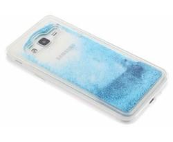 Blauw Liquid Glitter Case Samsung Galaxy J3 / J3 (2016)