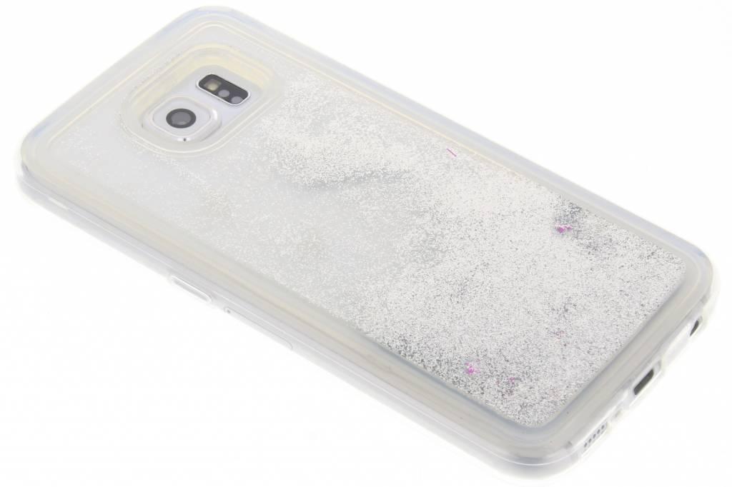 Zilveren Liquid Glitter Case voor de Samsung Galaxy S6