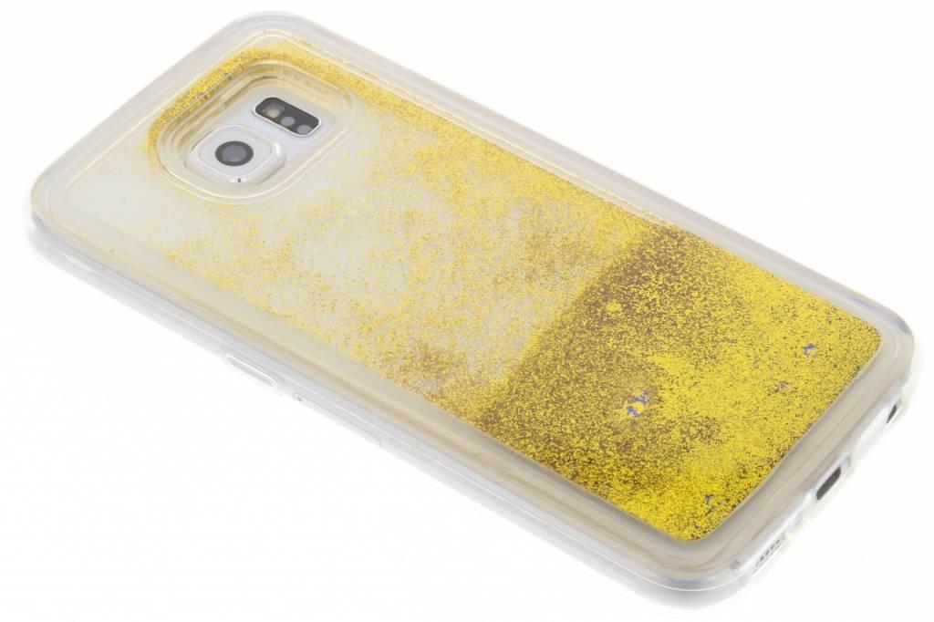 Gouden Liquid Glitter Case voor de Samsung Galaxy S6