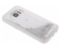Zilver Liquid Glitter Case Samsung Galaxy S7