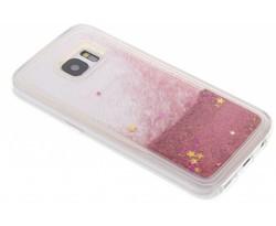 Roze Liquid Glitter Case Samsung Galaxy S7