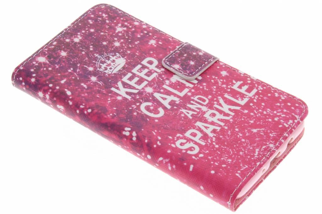 Keep calm design TPU booktype hoes voor de Samsung Galaxy J5 (2016)