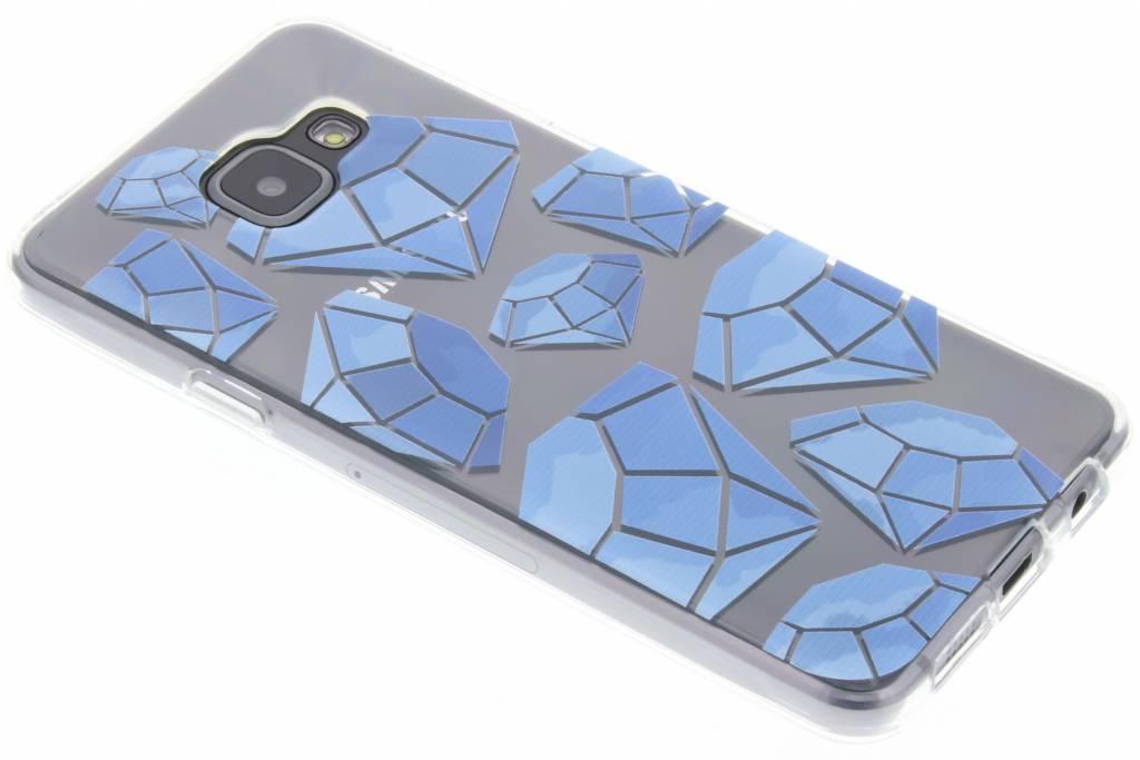 Blue diamonds design TPU hoesje voor de Samsung Galaxy A3 (2016)