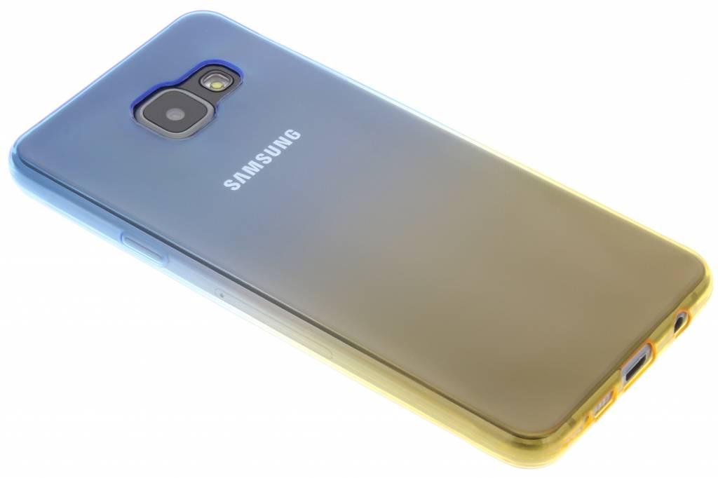 Bicolor Bleu / Jaune Étui En Silicone Tpu Pour Samsung Galaxy A3 (2016) aiGRJSV1