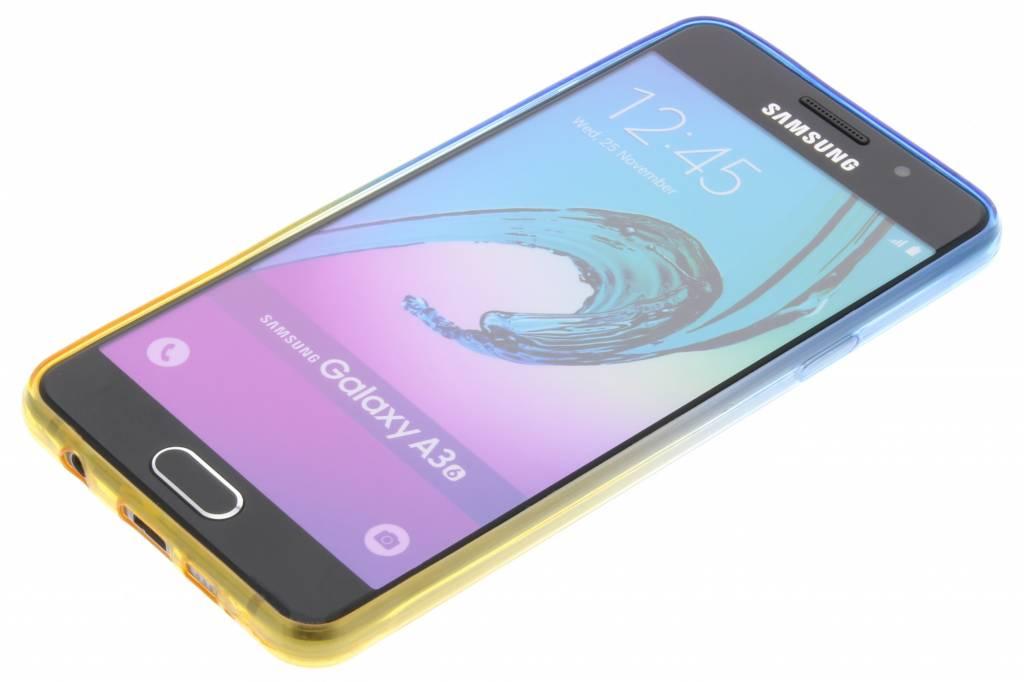 Bicolor Bleu / Jaune Étui En Silicone Tpu Pour Samsung Galaxy A3 (2016) 4Zlo15