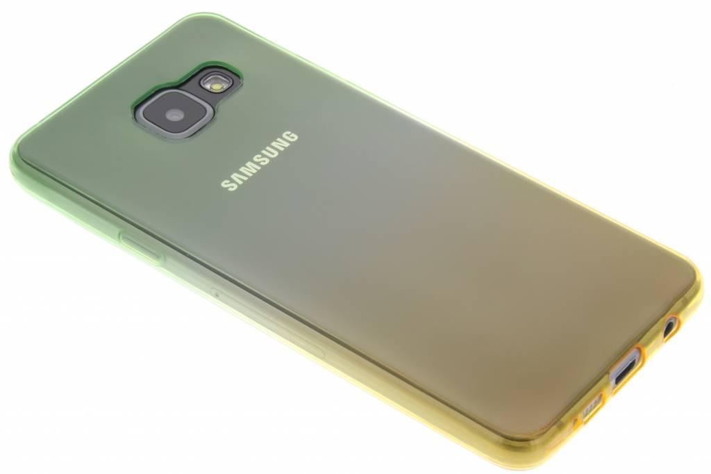Groen/geel tweekleurig TPU siliconen hoesje voor de Samsung Galaxy A3 (2016)