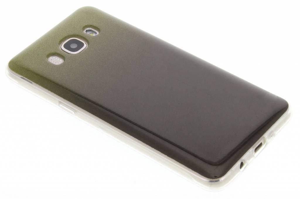 Mosgroene glitter TPU softcase voor de Samsung Galaxy J5 (2016)