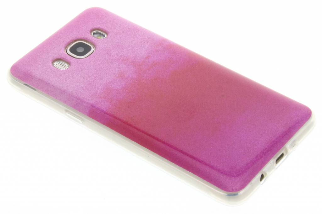 Fuchsia glitter TPU softcase voor de Samsung Galaxy J5 (2016)
