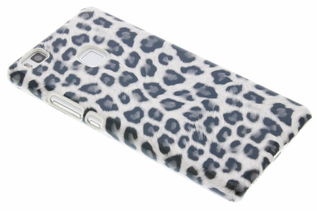 Grijs luipaard design hardcase hoesje voor de Huawei P9 Lite