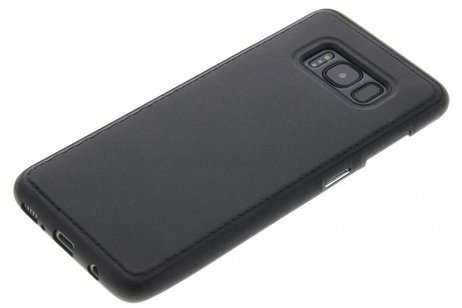 Cuir Noir Tpu Cas Pour Samsung Galaxy S8 MacUfF