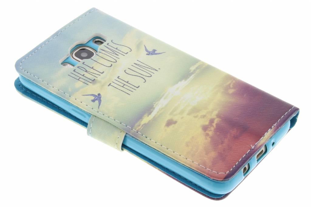 Ici Vient La Conception Soleil Tpu Booktype Houes Voor De Samsung Galaxy J5 (2016) HxJff