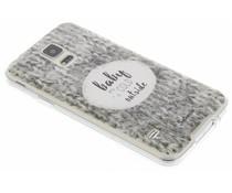 Selencia Quotes TPU hoesje Samsung Galaxy S5 (Plus) / Neo