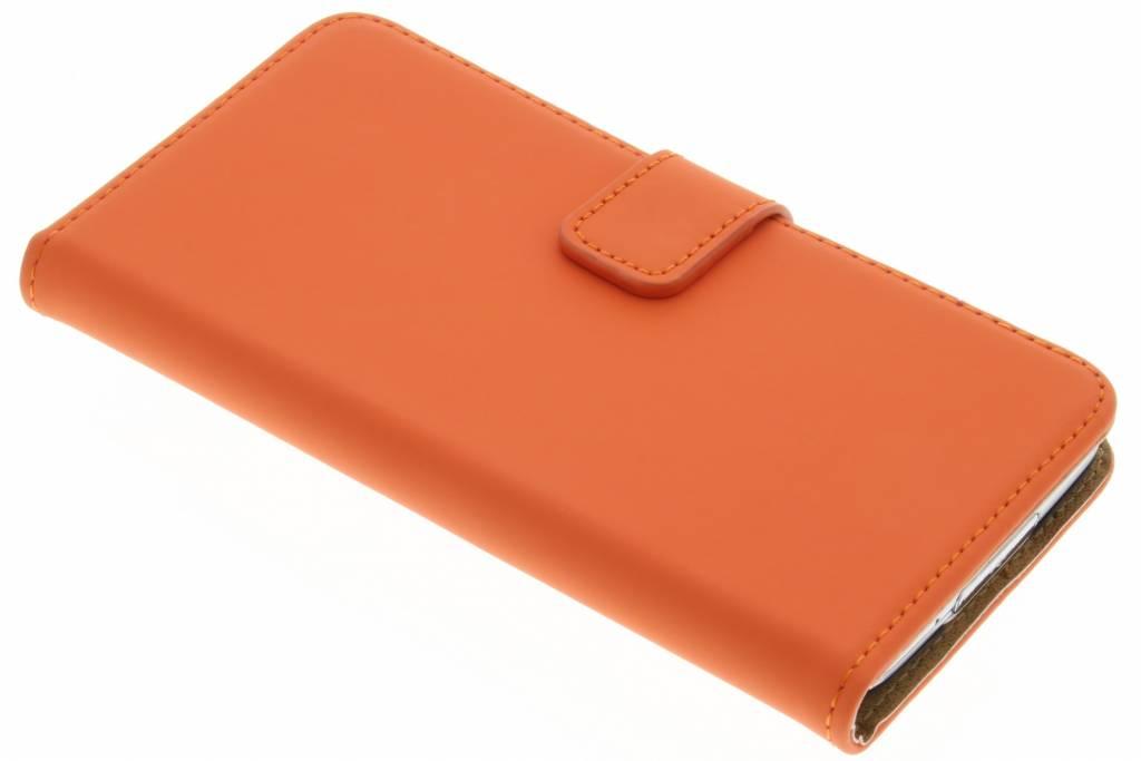 Selencia Luxe Book Case voor de Samsung Galaxy S5 (Plus) / Neo - Oranje