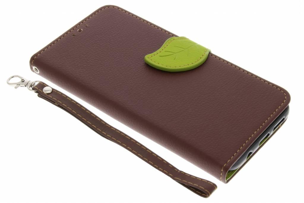 Bruine blad design TPU booktype hoes voor de Samsung Galaxy S8 Plus
